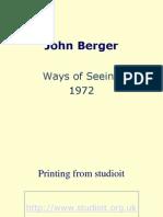 John Berger Ways of Seeing