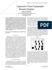 A Secured Approach to Visual Cryptographic Biometric Template