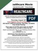 Healthcare Movie Flyer 08-30-12 Palo Alto