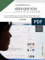 O Globo - Os Países que não curtiram o facebook