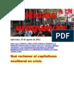 Noticias Uruguayas miércoles 15 de agosto del 2012
