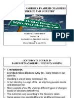 Basics of  Managerial Decision Making