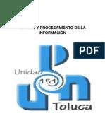 MANEJO Y PROCESAMIENTO DE INFORMACIÓN