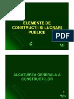 Alcatuirea Generala a Constructiilor
