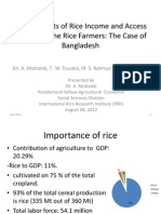 Determinants of Rice Income and Access to Land by the Rice Farmers