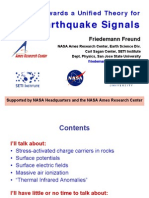 Friedemann Freund Towards a Unified Theory for Pre-Earthquake signals