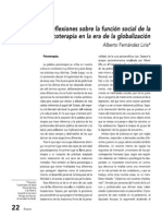 Fernández Liria A (2004) función social de la psicoterapia  Átopos.