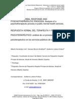 Fernandez Liria (2008) Therapist Verbal Response
