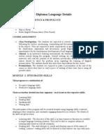 English Advance Diploma Language Details