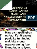 Pagsunod at Paggalang Sa Magulang, Nakatatanda At