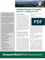2011 Ivanhoe Energy in Ecuador
