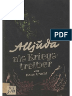 Gracht, Hans - Alljuda Als Kriegstreiber (1939, 66 S., Scan, Fraktur)