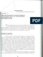 Organization of recorded information