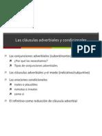 clausulas adverbiales y condicionales