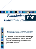 Foundations of Individual Behavior
