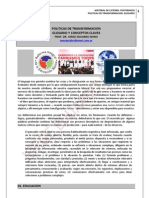 167. EDUCACION Y POLITICAS DE TRANSFORMACION