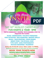 Etta Mae's Inspire Event August 18, Twyn Community Centre, Caerphilly