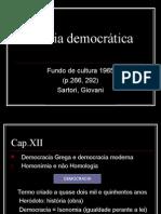 Teoria democrática Giovani Sartori