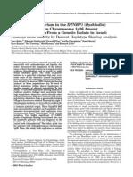 Linkage Disequlibrium in the DTNBP1 (Dysbindin)