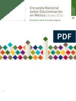 Encuesta Nacional  sobre Discriminación en México. ENADIS 2010. Resultados sobre diversidad religiosa.