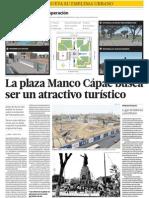Plaza Manco Capac atractivo turistico
