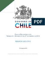 V Plan de Reconstrucción - Ministerio de Desarrollo Social, Gobierno de Chile