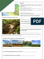 Exercícios hidrografia e Vegetação