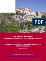 Reforma de La Justicia Militar Universidad de Cuenca5-2011