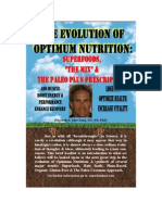 The Evolution of Optimum Nutrition