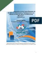 Analisis Comparativo de Las Leyes Estatales de Acceso a la Información y Transparencia con relación al Artículo Sexto Constitucional Mexicano