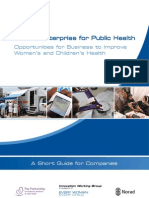 Private Enterprise for Public Health_ Guide 2012
