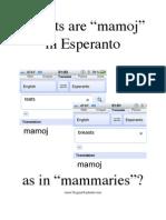 """""""Breasts"""" are """"mamoj"""" in Esperanto"""