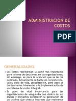8. Administración de Costos
