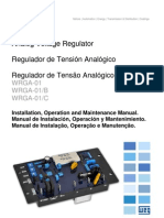 WEG Regulador de Tensao Analogico Wrga 01 10000925431 Manual Portugues Br