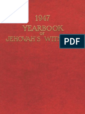 Of In Islam Jehovahs WitnessesJesus Yearbook 1947 CEBoWdxQre