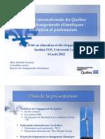 Place du Québec dans les négociations internationales - Michèle Fournier