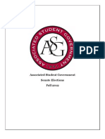 ASG Senate Fall 2012 Elections Packet