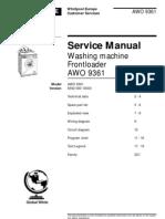 Whirlpool Awo 9361 Service Manual English