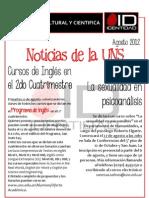 Agenda Cultural y Cientifica ID - (08-2012)