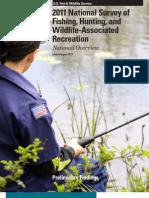 FWS 2011 National Survey of Fishing & Hunting Recreation