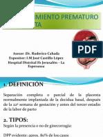 desprendimiento prematura de placenta