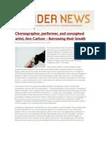 Choreographer, performer and conceptual artist, Ann Carlson