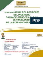 Investigacion Accidente Fatal Del Ing Dalmacio Mendoza Garcia