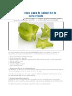 Beneficios Para La Salud de La Carambolao