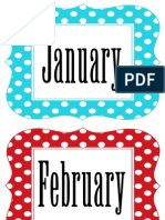 Multi Polka Dot Months