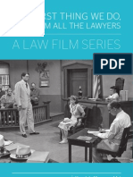 The First Thing We Do, Let's Film All The Lawyers - a Law Film Series Postcard