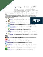 50 Programas Conocer Todo Networker 2012