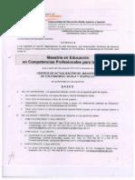 Convocatoria Maestría en Educación en Competencias Profesionales para la Docencia