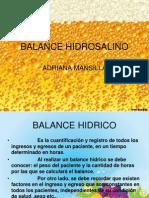 Balance Hidrosalino