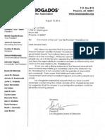 Letter to Sen. Klein